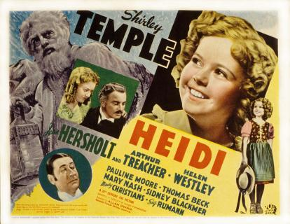 Publicity poster for Heidi (USA, 1937)