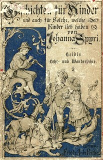 Cover of the eighth edition (1887) of Heidis Lehr- und Wanderjahre